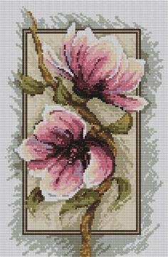 Gallery.ru / Фото #1 - magnolie2 - sabka Magnolias, Just Cross Stitch, Cross Stitch Flowers, Cross Stitch Designs, Cross Stitch Patterns, Hand Embroidery, Cross Stitch Embroidery, Goblin, Stitch 2