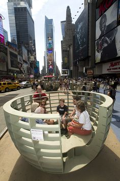 Meeting Bowls NYC: Street Furniture For Spontaneous Dialog [Pics] - PSFK