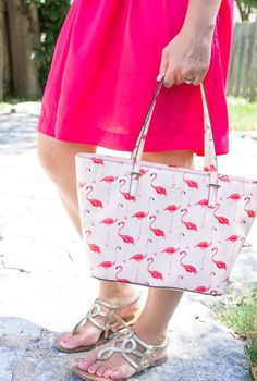 Kate Spade Flamingo Handbag| All That Glitters