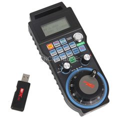Radio frequency: 433 MHz,ISM,the Tx power is 10DB and the RX sensitivity is 98DB USB receiver 6 axes (X, Y, Z, A, B, C axis) with LCD display real-time display Support 128*64 dot matrix input Support 100PPR electronic hand wheel function. Support the 13 shortcut keys, the user is free to define the function Wireless transmission distance of 40 meters