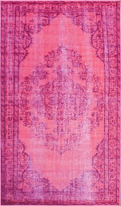 nuLOOM Remade Distressed Overdyed Pink Rug & Reviews | Wayfair