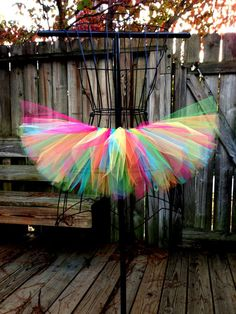 Rainbow tutu. Love this.