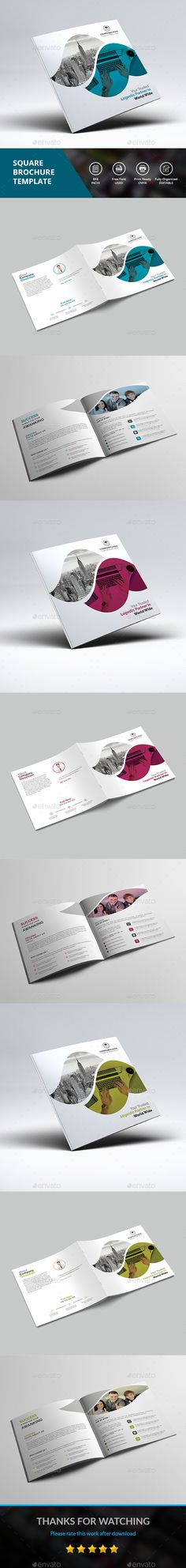 Square Brochure Brochures Corporate Brochure And Brochure Template
