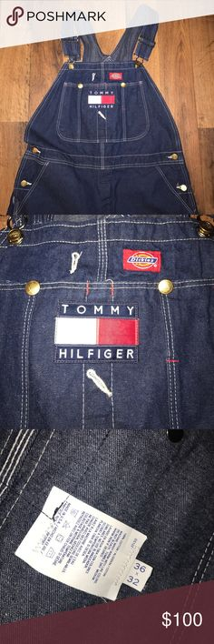36x32 Custom Tommy Hilfiger x Dickies Overalls Tommy Hilfiger Patch added to some dickies overalls Tommy Hilfiger Jeans