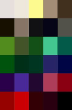 Basic colors for Dark seasons: Soft white, ivory, butter, stone, chocolate Black brown, taupe, coal, dark navy, pewter Lime, moss green, ivy, turquoise, teal Emerald, spruce, forest green, cornflower, true blue Royal purple, purple, damson, blush pink, true red Scarlet, chili, burgundy, aubergine, black