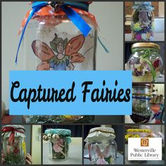 Make a captured fairy reading buddy. Maybe we'll do this instead of building a fairy house in my K summer group. I wonder if I can get the boys to like it..