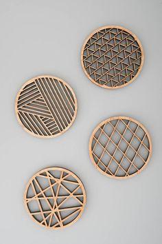 Geometric Wood Coasters