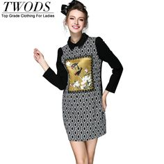S- 5xl Autumn Cotton Short Dress Long Sleeve Turn Down Collar Front Retro Pattern Embellish Black Vestidos Like and Share if you want this http://www.artifashion.net/product/s-5xl-autumn-cotton-short-dress-long-sleeve-turn-down-collar-front-retro-pattern-embellish-black-vestidos/ #shop #beauty #Woman's fashion #Products