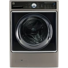 Kenmore Smart 5.2 cu.ft. Front Load Washer with Accela Wash Technology in Metallic Silver  - Works with Amazon Alexa, includes delivery and hookup (Available in select cities only)         ** Click image to review more details. (This is an affiliate link) #Appliances