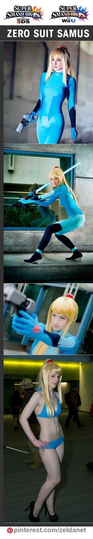 Zero Suit Samus by Katsumiyo in Super Smash Bros cosplay series | @nintendo  #WiiU #3DS in original post at http://www.pinterest.com/zeldanet/super-smash-bros-cosplay-series/