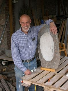 """Driving Richard Home: Sculptor Richard Cabe, 1950-2011, with one of his beloved """"ambassadors of the earth."""" http://susanjtweit.com/2014/12/driving-richard-home.html/"""