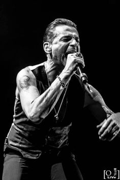 Dave Gahan with Depeche Mode at Lyon,23.01.2014.
