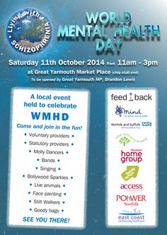 Come and celebrate World Mental Health Day: Great Yarmouth and Waveney CCG