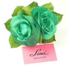 Rosa artificial pequeña color Verde Andalucía PVP: 3,50€