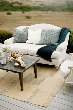 Vintage Nautical meets Rustic Lounge Seating. #wedding #furniture #decor