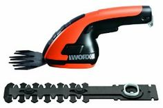 WORX WG800.1 3.6-Volt Lithium-Ion Cordless Grass Shear/Hedge Trimmer by Worx. $59.99. Quick tool-free conversion from shrub shear to grass shear; Compact, lightwieght design; Lithium Ion battery technology: long life, lightwieght, no self-discharge, no memory effect.; Overmold soft grip handle reduces fatigue and improves grip; Battery charging indicator. From the Manufacturer                The Worx 3.6 volt lithium ion shear shrubber is perfect for light touch up j...