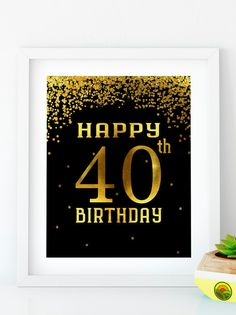 Items similar to Happy Birthday 55 Gold birthday sign birthday party Printable Gold party decor print birthday decoration on Etsy Gold Birthday Party, 70th Birthday Parties, Birthday Cupcakes, Birthday Celebration, Birthday Ideas, Happy 60th Birthday Images, Happy Birthday, 30th Birthday Decorations, Sign