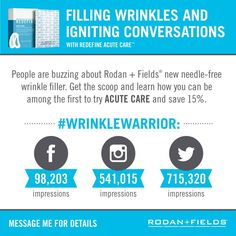 Fill a wrinkle while you sleep! No needle required! Only R+F! lexisidener.myrandf.com