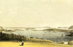 """Monkstown Bay and Cork Harbour"", by Henry Morgan. Henry Morgan, Old Irish, Cork, Painting, Big, Photos, Pictures, Painting Art, Paintings"