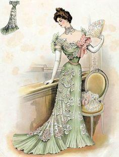 Illustration - Mode de l'Epoque Victorienne - 1899