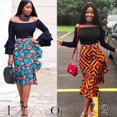 These Ankara Skirts are sooo Perfect. Ankara Dress Styles, Ankara Skirt, Latest African Fashion Dresses, African Print Fashion, Classy Outfits, Classy Dress, Dress Outfits, Girl Outfits, African Wear