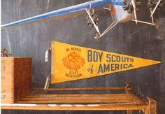 vintage boy scouts penant