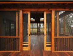 Love this screened-in porch with sliding doors!