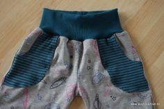 Freebook von Haidesign, tolle Babyhose mit aufgesetzten Taschen