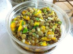 lentil mango salad (lunch)
