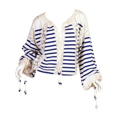 Jean Paul Gaultier Runway Sample Boho Sailor Blouse | From a collection of rare vintage shirts at https://www.1stdibs.com/fashion/clothing/shirts/
