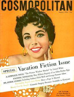 Elizabeth Taylor - Cosmopolitan, Aug, 1956