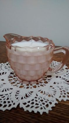 Hey, I found this really awesome Etsy listing at https://www.etsy.com/listing/221313184/vintage-pink-depression-glass-creamer