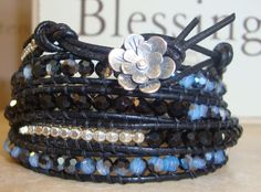 Blue Jean Baby   Wrap bracelet Sterling Silver by Tesoribydmarie, $140.00
