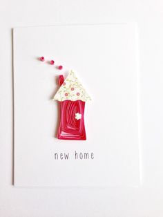 Congratulations on your new home unique by sweetspotcardshop paper quilled new home greeting card quilled house made in canada by apaperlifeoriginals m4hsunfo