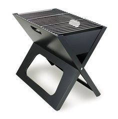 folding portable charcoal BBQ grill...my guy would love this! $35