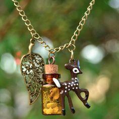 Deer Terrarium Necklace | NOOKROAD AUD $36.00