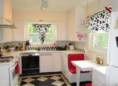 Love the tiny kitchen booth.
