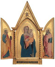nardo+di+cione+madonna+and+child | Nardo di Cione - Madonna and Child with Saint Peter and Saint John the ...