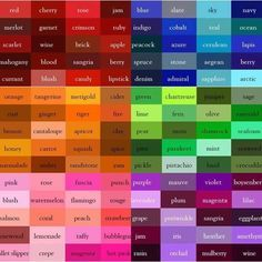 list of colors craft ideas pinterest colour list chart and