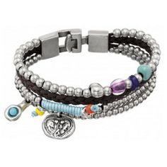 Bracelet boho. Détail breloques. Bracelet perles. Bracelet bohème chic. Bracelet bohemian. bracelet uno de 50.