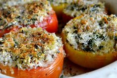provencal tomatoes baked tomatoes stuffed with fresh herbs breadcrumbs ...