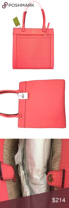 "✨🌟HP!🌟✨🆕kate spade lynne perry in bubbles purse 💗❤️💗❤️INSTA CHIC HOST PICK!💗❤️👠👠👠 So pretty, kate spade lynne purse: WKRU3016. The color is peony. ""Perry in bubbles."" Flawless!! Don't pass this one up! 12.75""L x 13.5""H x 3.25""W kate spade Bags"