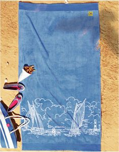 TWLSAIL Sail Boat Printed Beach Towels