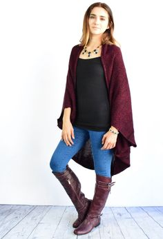 """Luxury looking sweater cardigan features fine fabric.  This cardigan is very comfy and classic.Pair this with tall boots and your favorite jeans!   Fits true to size model is size 4, 5'6"""" tall and she wears size small. fits true to size in relaxed."""