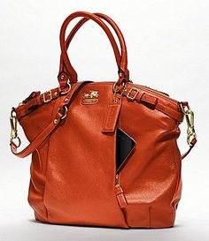 0597257e31b7 Coach Madison Leather Lindsey Satchel - Persimmon 18641 RM Crafted in  sumptuous leather with a graceful shoulder strap and very re. Darlene M ·  Purse ...