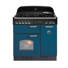Rangemaster 78040 Classic 90cm in Blue & Chrome. Call 01302 638805 for prices.