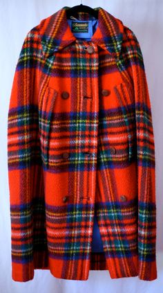 Vintage Plaid Cape.