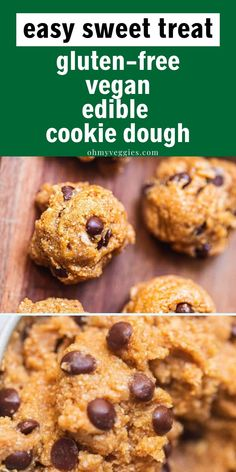 This edible vegan cookie dough is a delicious, healthy-ish dessert that you can pull together in just 5 minutes. Sweet, indulgent, and loaded with dark chocolate chips. Grab a spoon and dig in! Best Vegan Cookie Recipe, Best Vegan Cookies, Vegan Cookie Dough, Vegan Chocolate Chip Cookies, Cookie Dough Recipes, Edible Cookie Dough, Gluten Free Cookies, Chocolate Chips, Vegan Cookbook