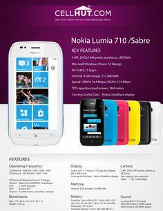 Nokia Lumia 710 Black Windows Smartphone-features-specification-at cellhut Lumia 710, Windows Phone 7, Microsoft Windows, Wifi, Product Brochure, Smartphone Features, Black Windows, Reading, Books