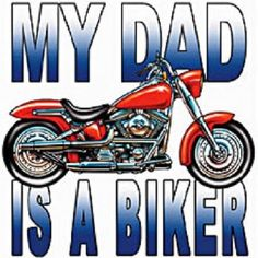 My Dad Is A Biker Children's Youth Size by AlwaysInStitchesCo